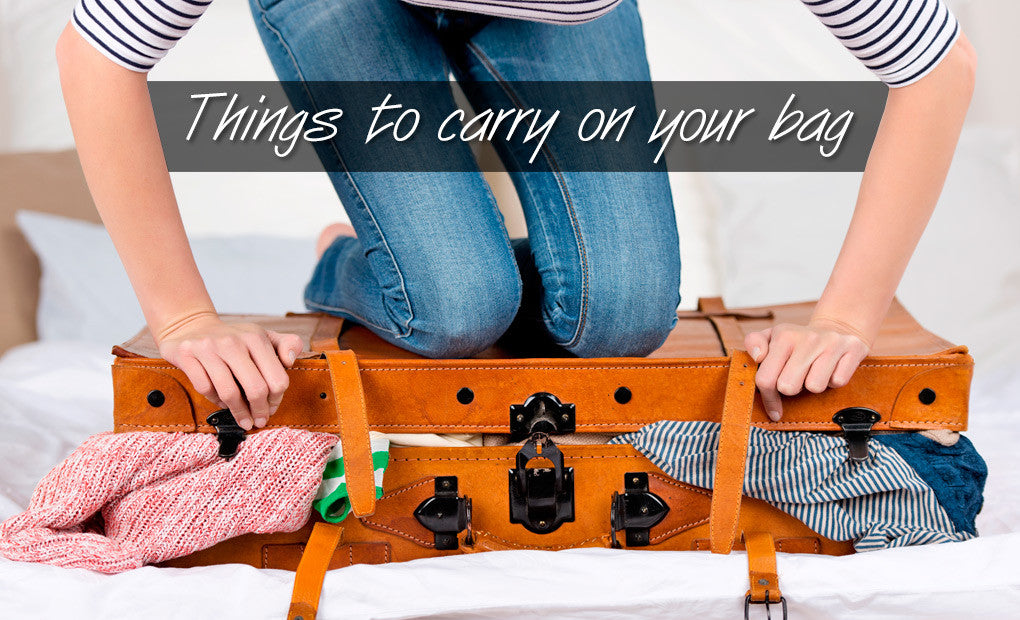 Things to carry on your bag this summer