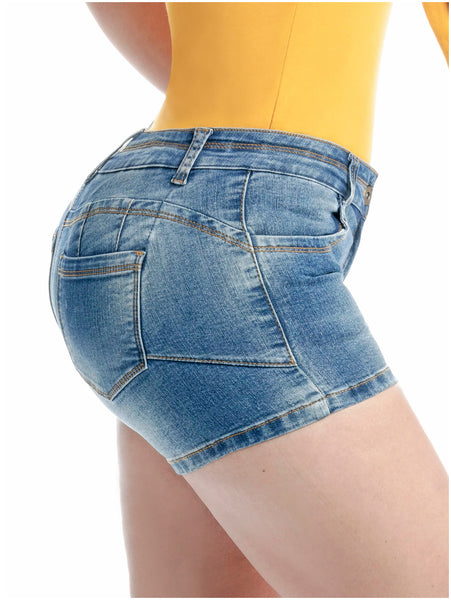 LOWLA 238478 | Denim Shorts Colombianos con Almohadillas Removibles