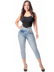 LOWLA 239257 | Colombian Butt Lifter Capri Skinny Jeans with Inner Girdle