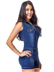 LOWLA 269255 | Colombian Denim Romper with Inner Girdle