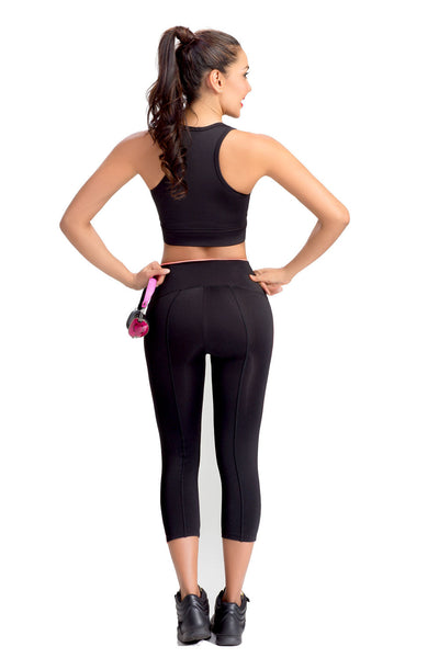 Fitness Training For Women Black Trousers Lowla 41232 - Lowla US Fashion Shapewear - 3