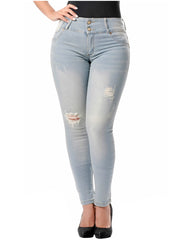 LOWLA 0766 | Colombian High Waisted Butt Lifting Ripped Jeans for Women - LOWLA US