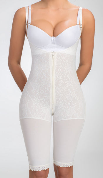 Body Shaper For Women White Thin Compression Capri 362 Lowla - Lowla US Fashion Shapewear - 8