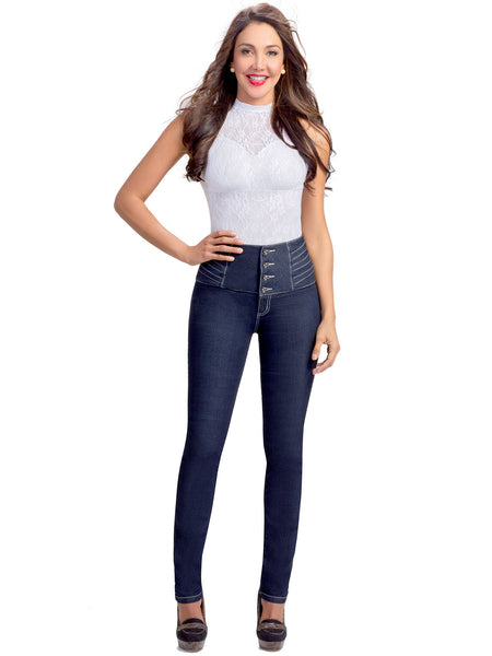 LOWLA 217205 | Colombian Wide Waistband Compression Jeans