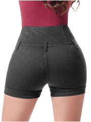 LOWLA 238289 | Colombian Butt Lifter High-waisted Shorts with Inner Girdle