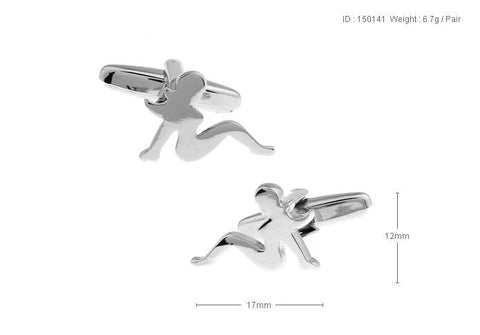 Angel style French cuff Cufflink