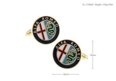 Auto Logo Car Cufflinks For Mens