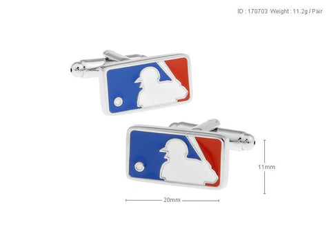 Baseball Logo Style Cufflinks For Mens