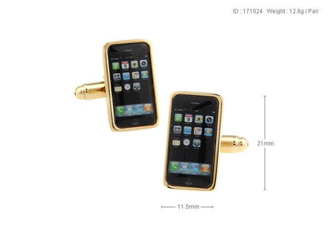 Android Phone style Cufflink For Men's