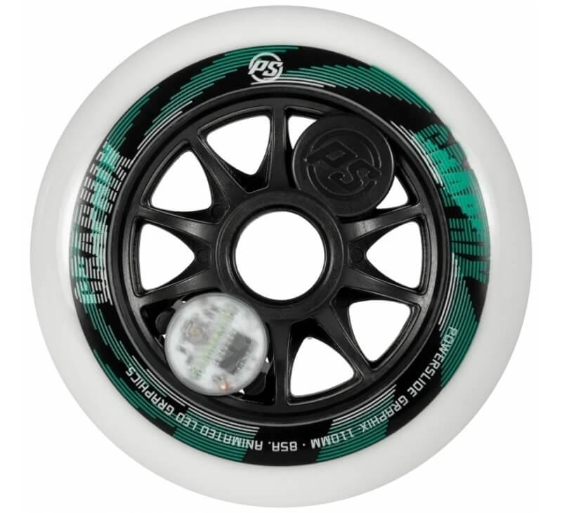 Powerslide Graphix 110mm White Wheels