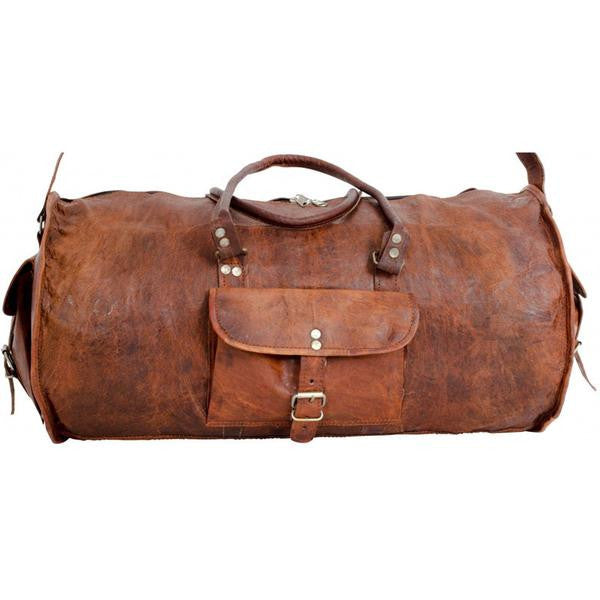 Retro Leather Duffle Bag