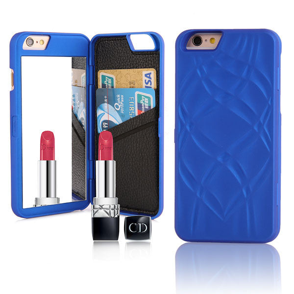 Wallet Mirror Flip Case For iPhone