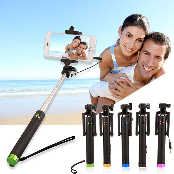 Extendable Selfie Stick Monopod Tripod For Iphone Samsung Android Pau De Self Perche Wired Selfies Self-Pole Artifact Selfiepod