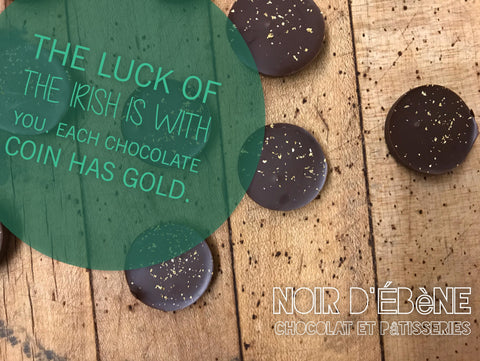 Luck of the Irish 70% Dark Chocolate Coins -  Hacienda Noelia, Dominican Republic - SINGLE ORIGIN