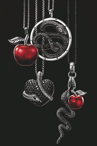 Snake and Apple pendants