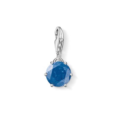 Charm Club December birthstone with dumortierite