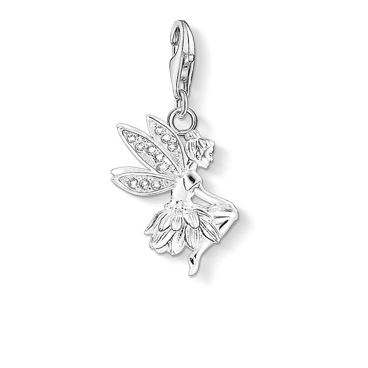 Charm Club silver fairy charm with CZ