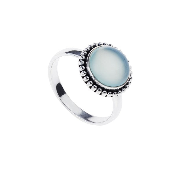 Najo silver and chalcedony ring