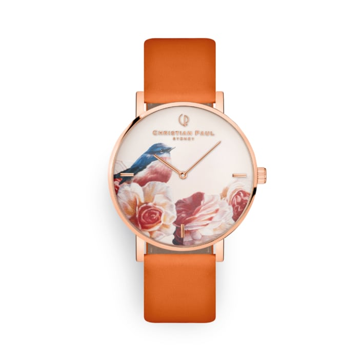 Rose watch with printed dial