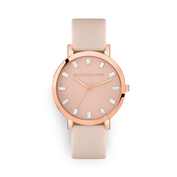 Rose watch with crystals