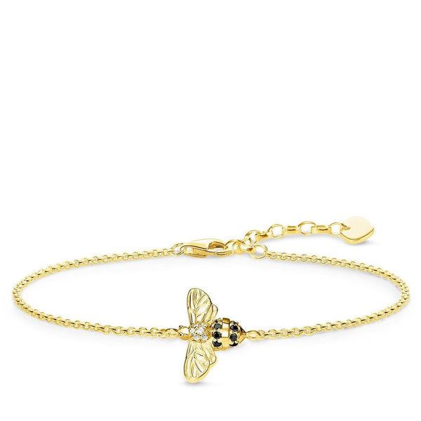 Gold finish bee bracelet