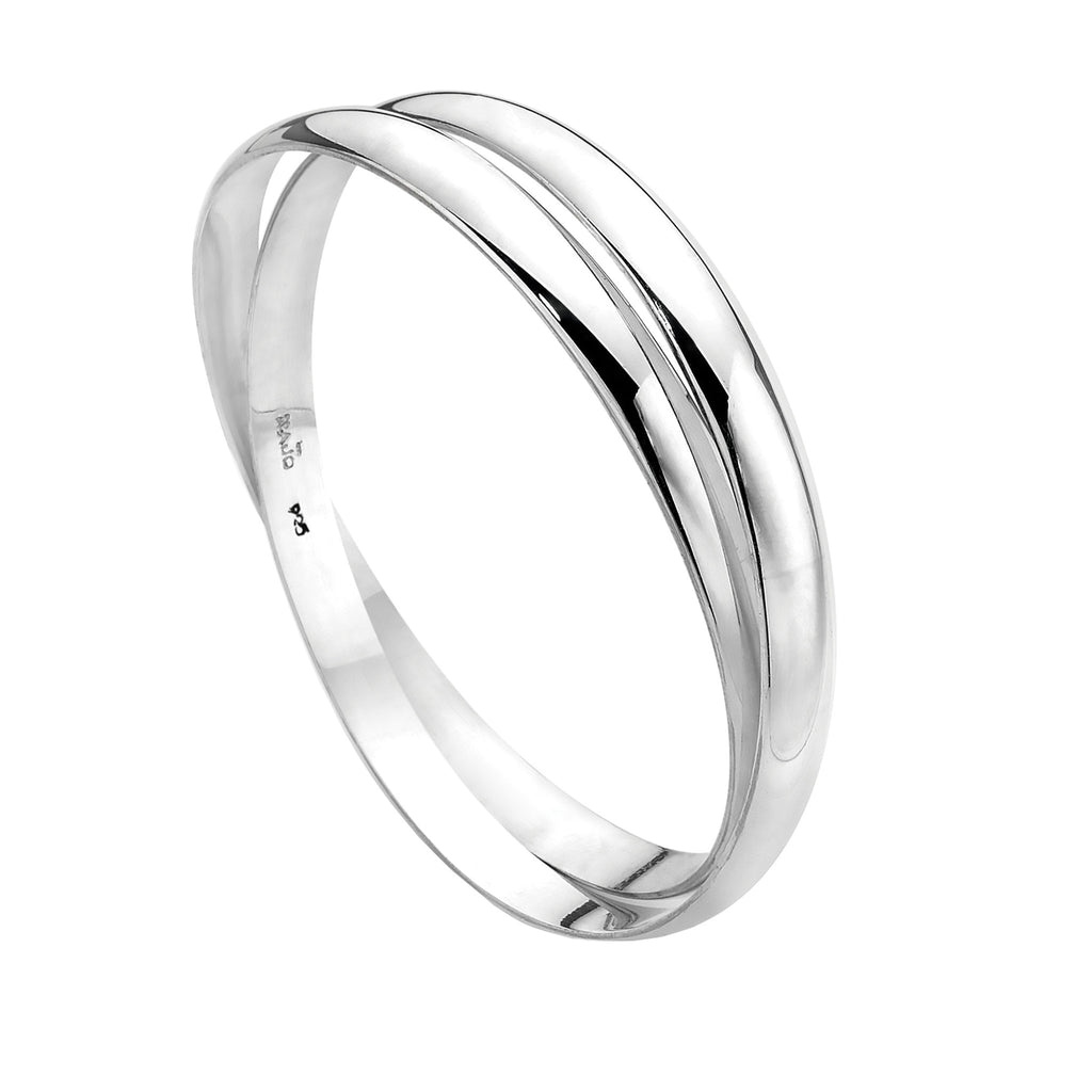 Najo interlocked silver bangles