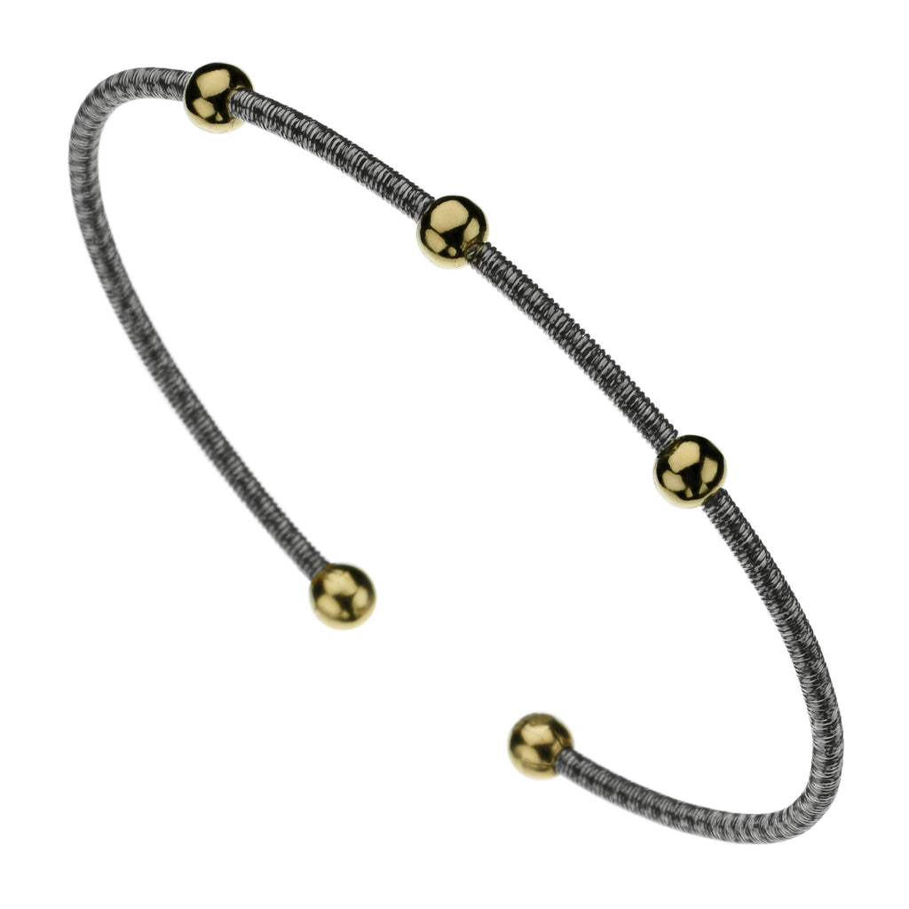 Najo twist wire bangle, two-tone finish
