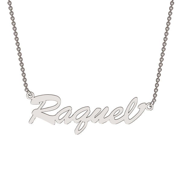 Sterling silver bold name necklace