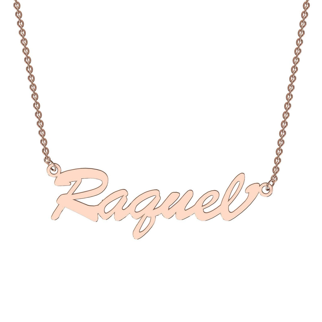 Rose gold bold name necklace
