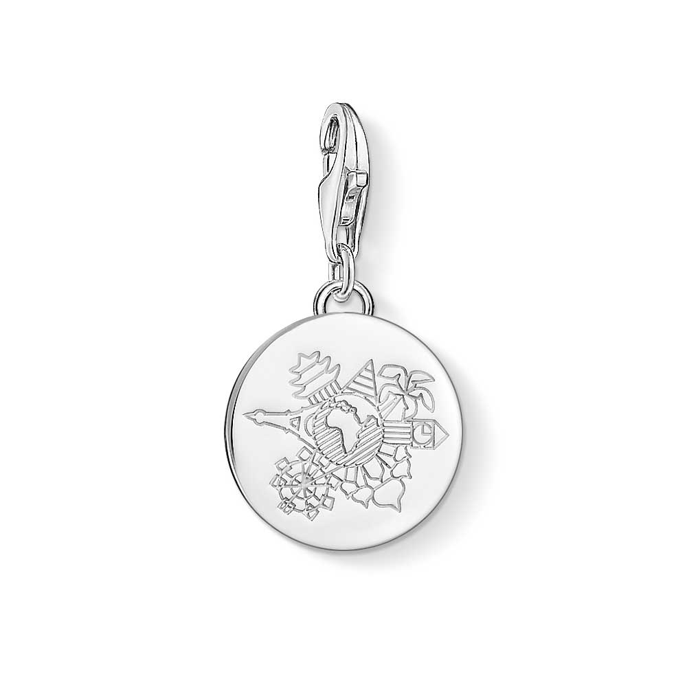 Silver travel charm