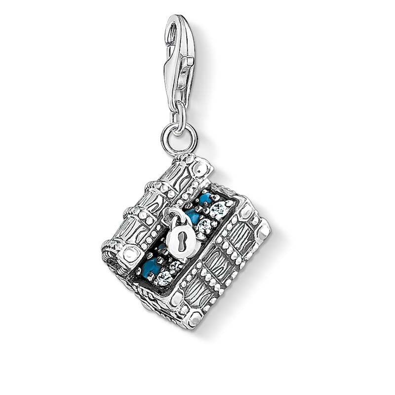 Silver chest charm