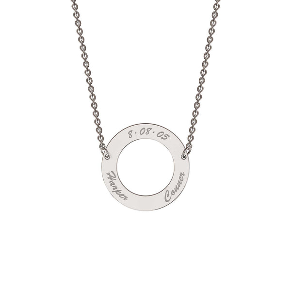 Sterling silver classic circle necklace