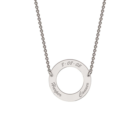 Me-Mi Personalised Classic Circle Necklace
