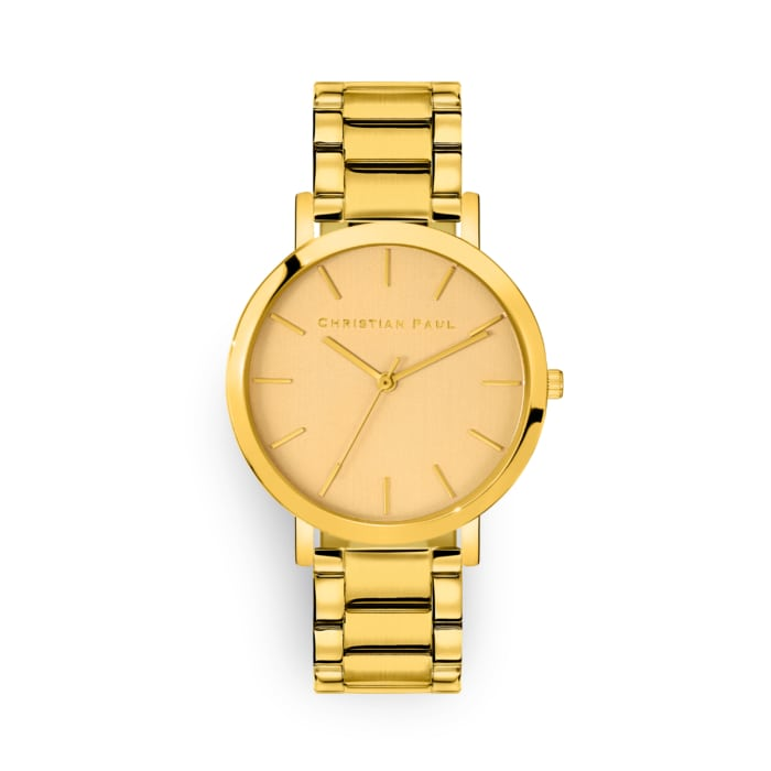 Gold link watch