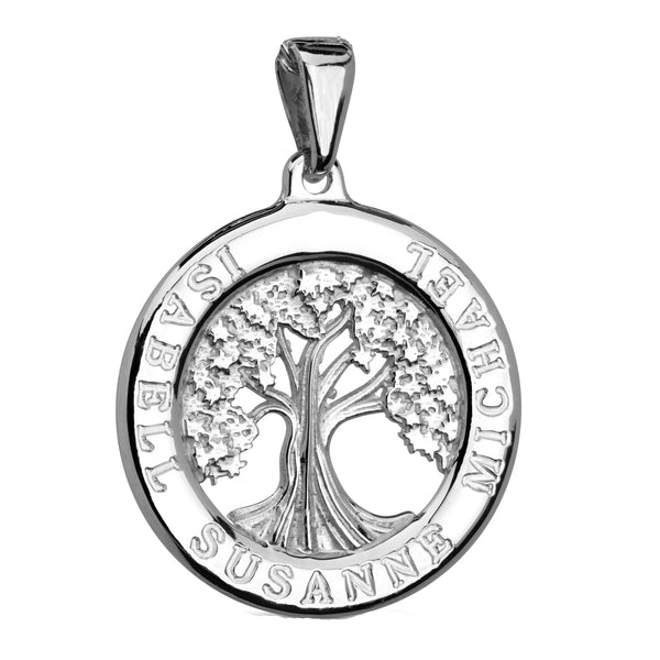 Charmour 22mm Single Ring Tree of Life Pendant CM382TOL
