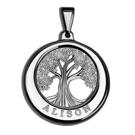 Charmour 22mm Single Ring Tree of Life Pendant CM383TOL