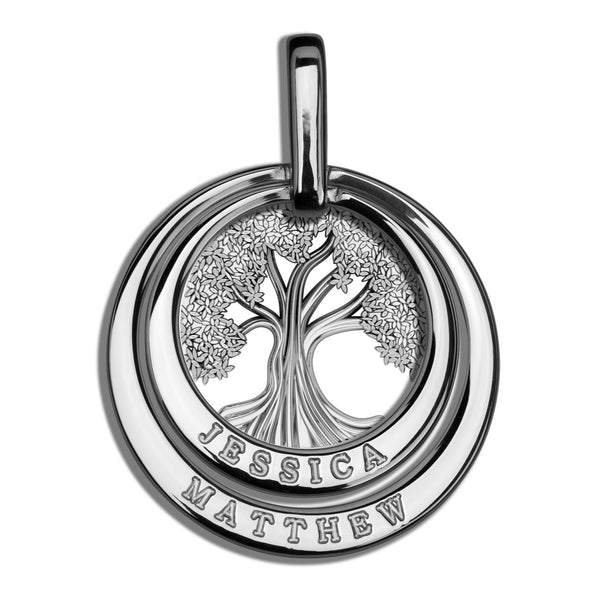 Charmour Multi-Ring Tree of Life Pendant CM396TOL