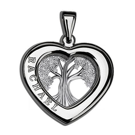 Charmour 23mm Heart Tree of Life Pendant CM405TOL