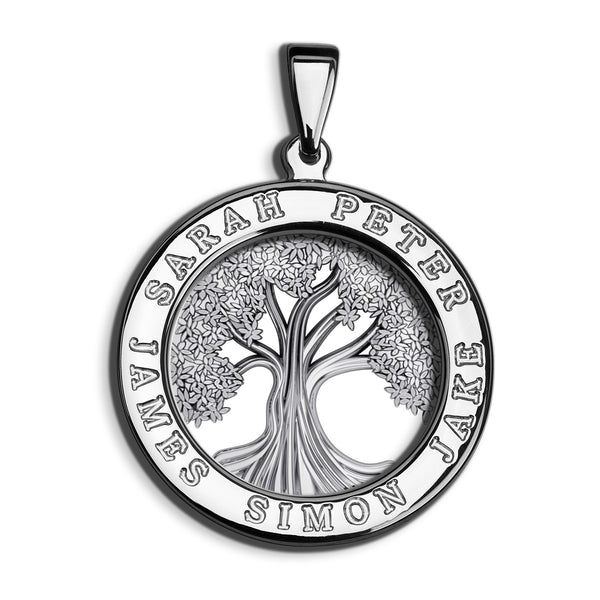 Charmour 25mm Single Ring Tree of Life Pendant CM406TOL