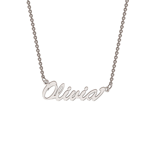 Sterling silver classic name necklace