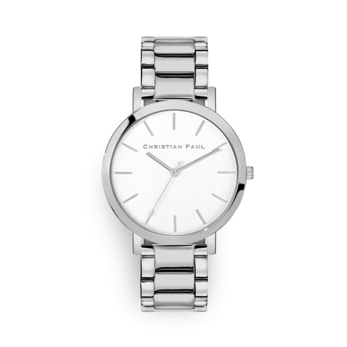 Silver link watch