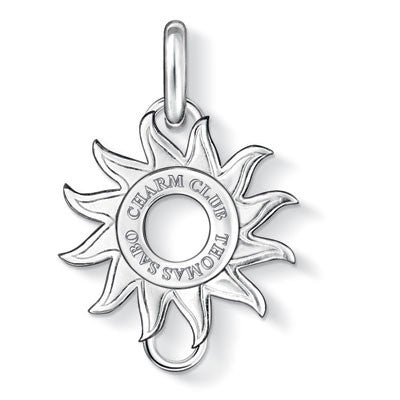 Charm Club silver sun shaped carrier