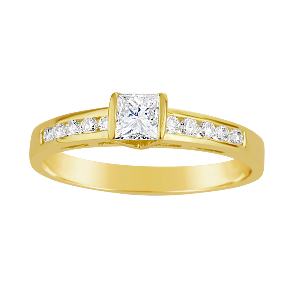 Yellow Gold & Diamond Ring E0009