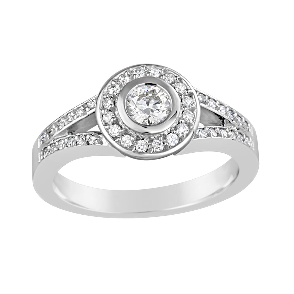White Gold & Diamond Dress Ring E0478WG