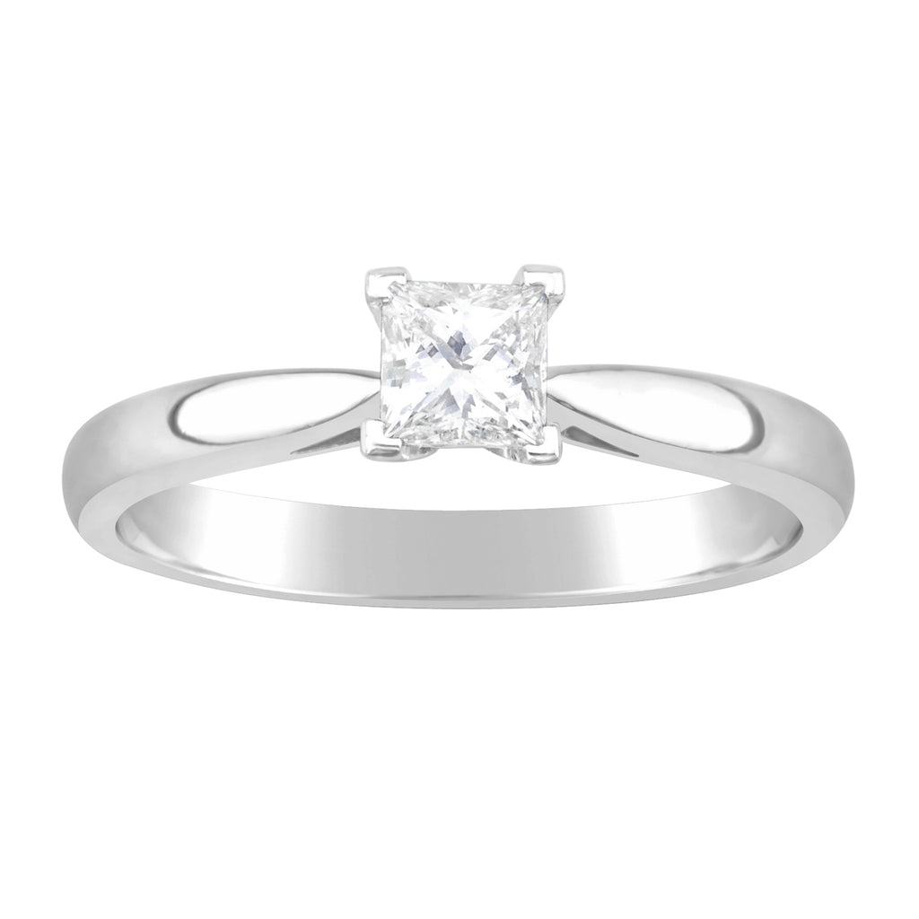 White Gold & Diamond Engagement Ring E0560A