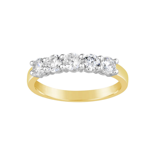 Two-Tone Gold & Diamond Ring E0567TT
