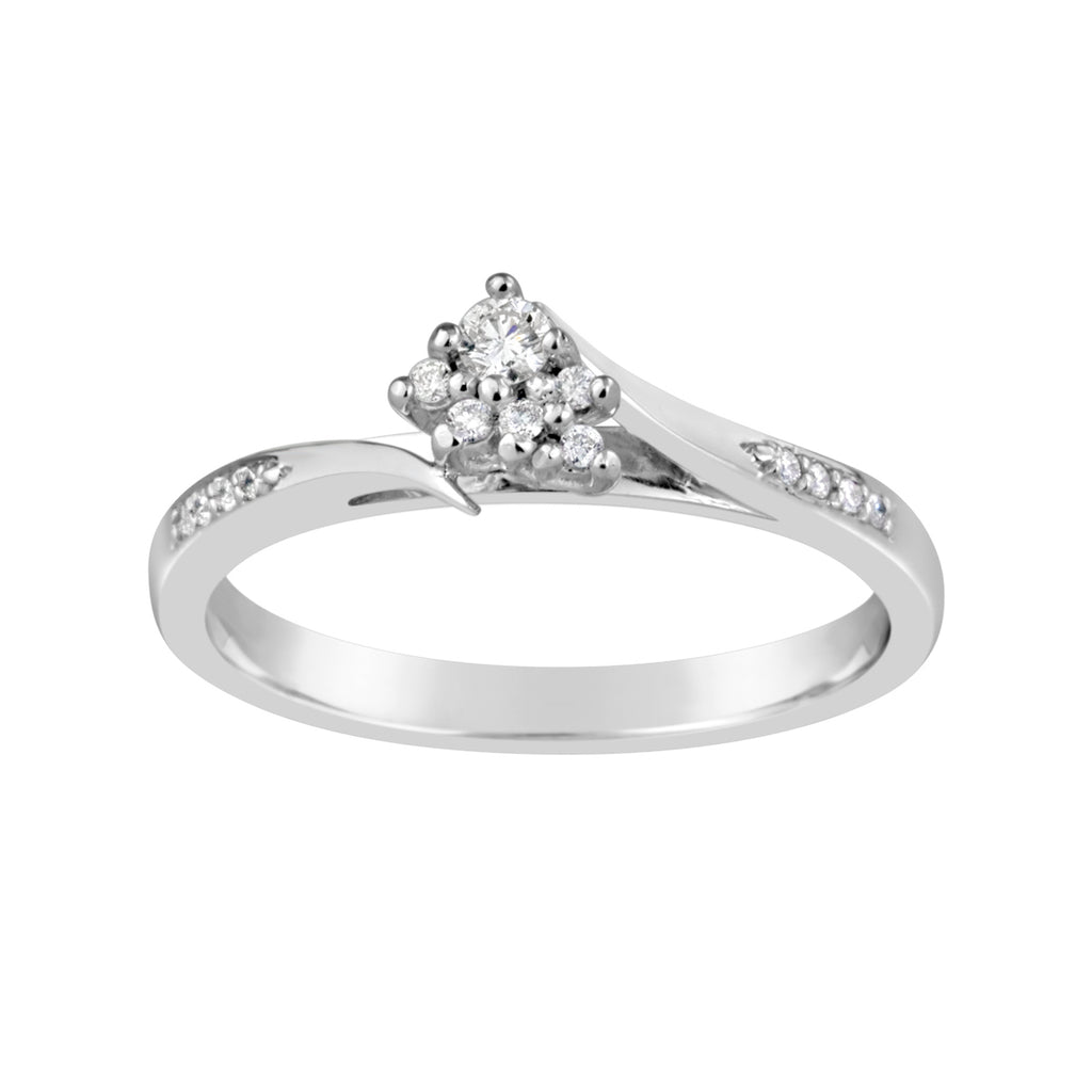 White Gold & Diamond Engagement Ring E0815WG