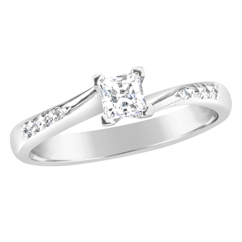 White Gold & Diamond Engagement Ring E0869WG