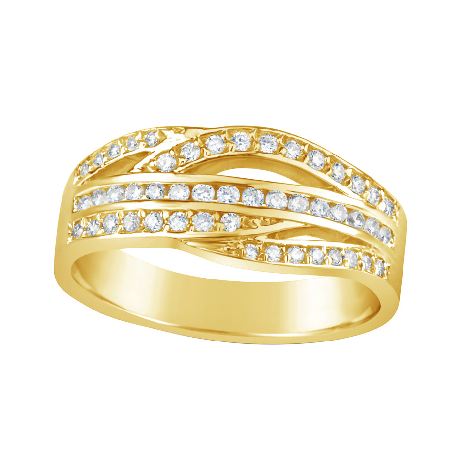 Yellow Gold & Diamond Dress Ring E0876
