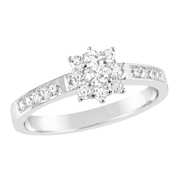 White Gold & Diamond Engagement Ring E1117WG